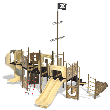 PlayFit Pirate School Age Playground