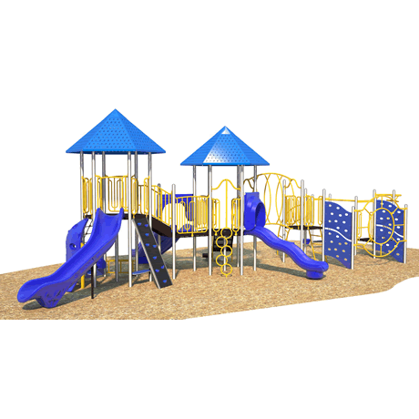 PlayFit Two Towers School Age Playground