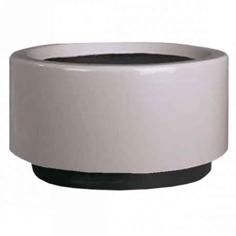 30 In. Fiberglass Cylinder Planter-Planters